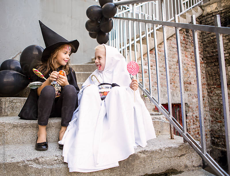 Smiling Kids in Halloween Costumes by Lumina for Stocksy United