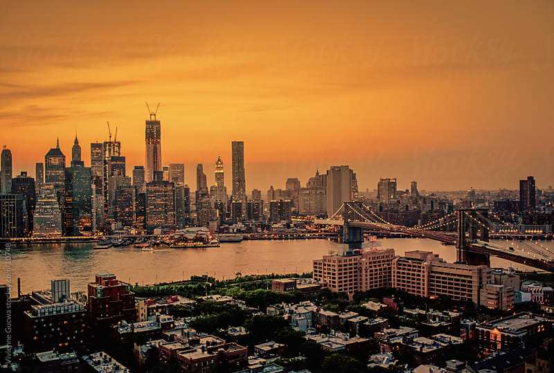 New York City: Skylines of Manhattan and Brooklyn by Vivienne Gucwa for Stocksy United