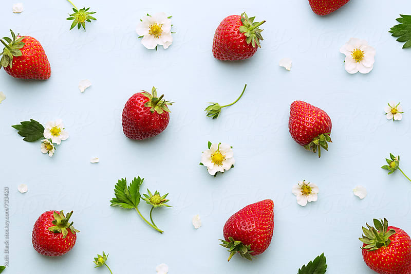 Summer strawberry background by Ruth Black for Stocksy United