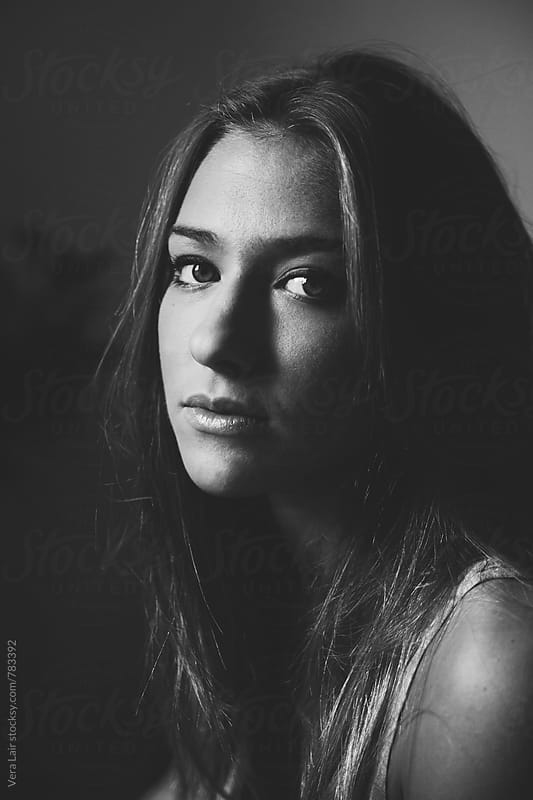 Portrait of a beauiful young woman by Vera Lair for Stocksy United