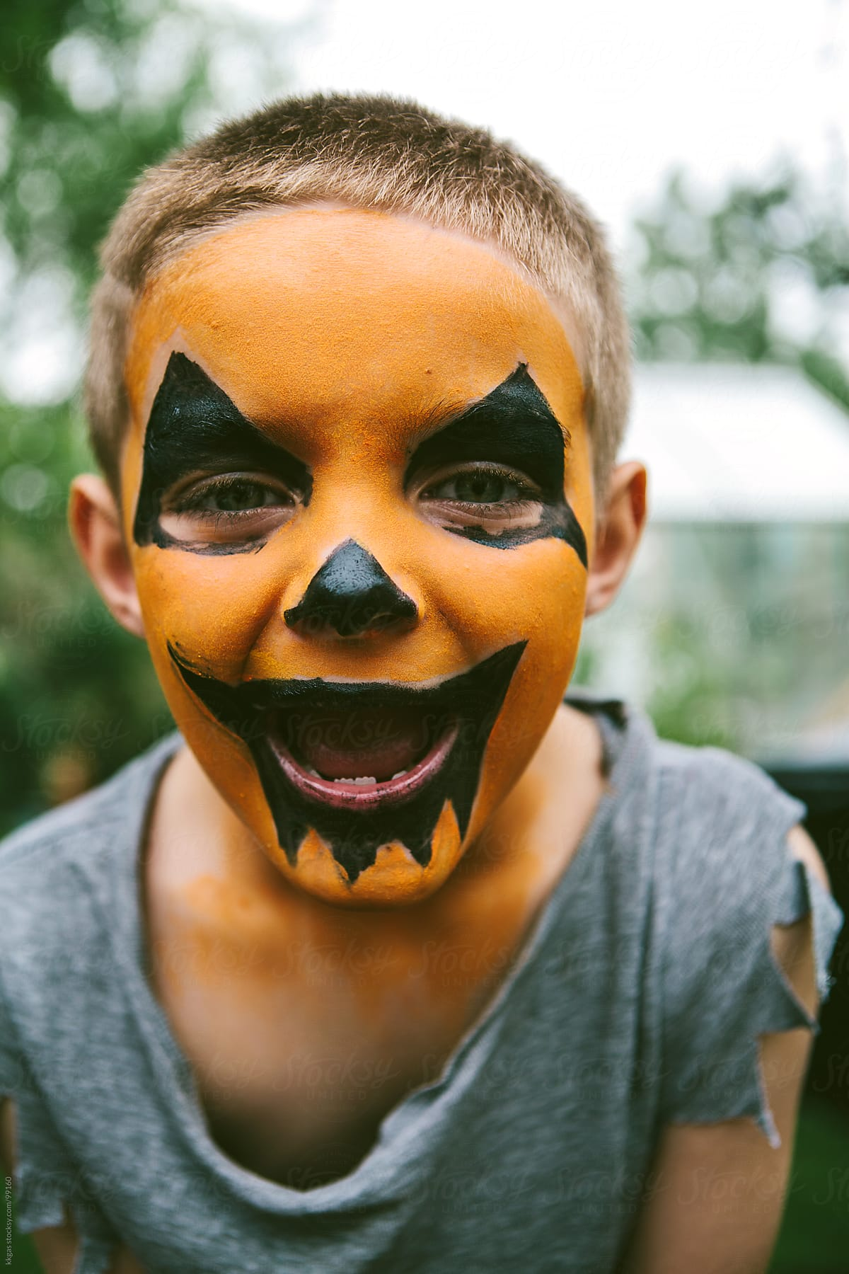 Little Boy With Jack O Lantern Face Paint For Halloween By Kkgas Stocksy United,Tuxedo Cats Wallpaper