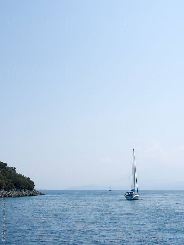 sailing boat around Dalaman in Turkey by DV8OR for Stocksy United