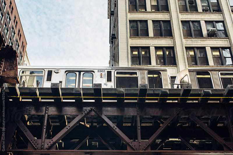 Elevated 'L' train in Chicago by Gabriel (Gabi) Bucataru for Stocksy United