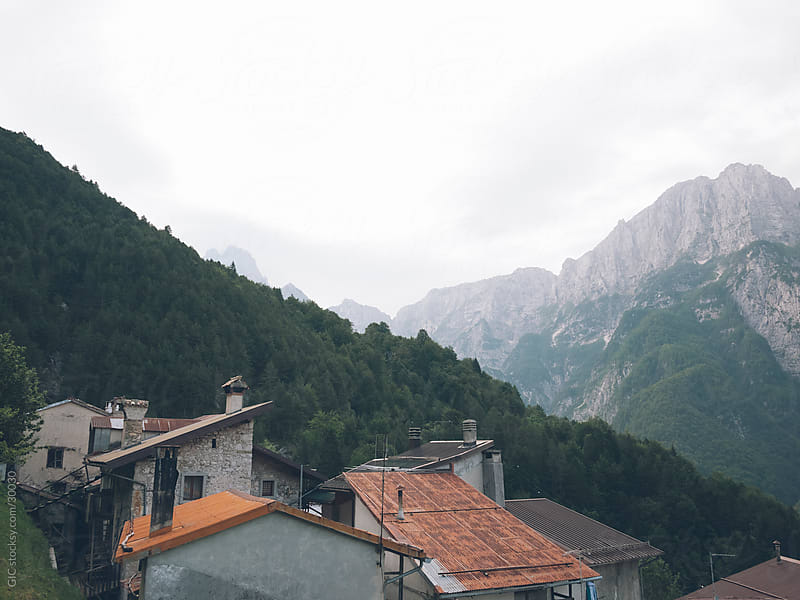 Old town on the mountain - Italian Alps by GIC for Stocksy United