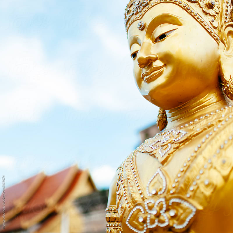 Thai Buda on shallow depth of field by mee productions for Stocksy United