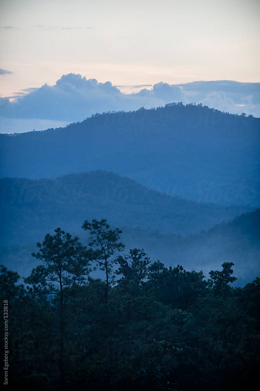Forested mountain landscape in Northern Thailand by Soren Egeberg for Stocksy United
