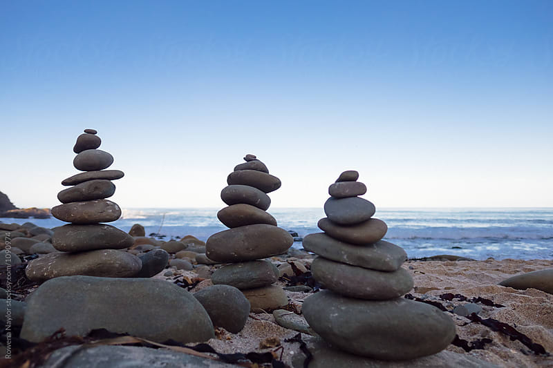 Rock stacks on Great Ocean Road, Australia by Rowena Naylor for Stocksy United