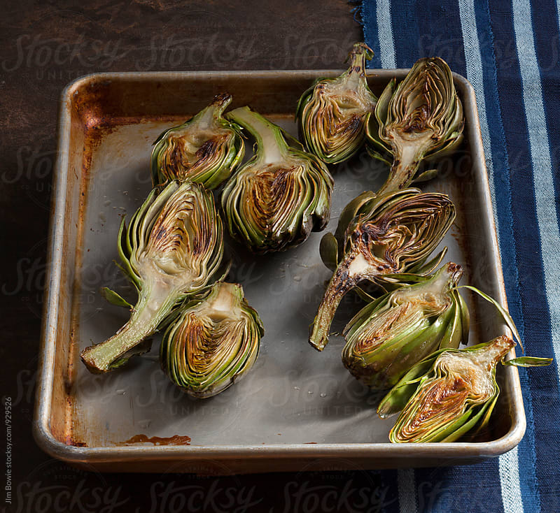Grilled Artichokes, 2 by JIm Bowie for Stocksy United