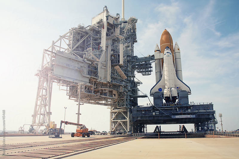 Space Shuttle Atlantis on Launch Pad