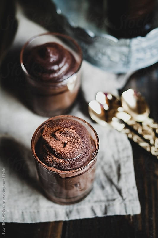 Creamy Vegan Chocolate Mousse by Susan Brooks-Dammann for Stocksy United