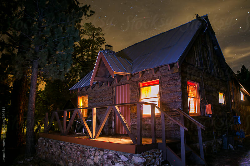 Rustic Log Cabin in the Woods by Jayme Burrows for Stocksy United