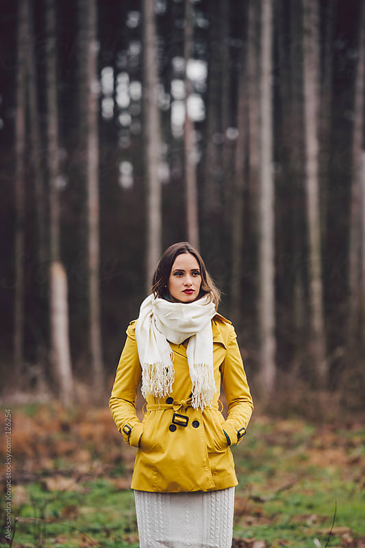 Women in autumn nature by Aleksandra Kovac for Stocksy United