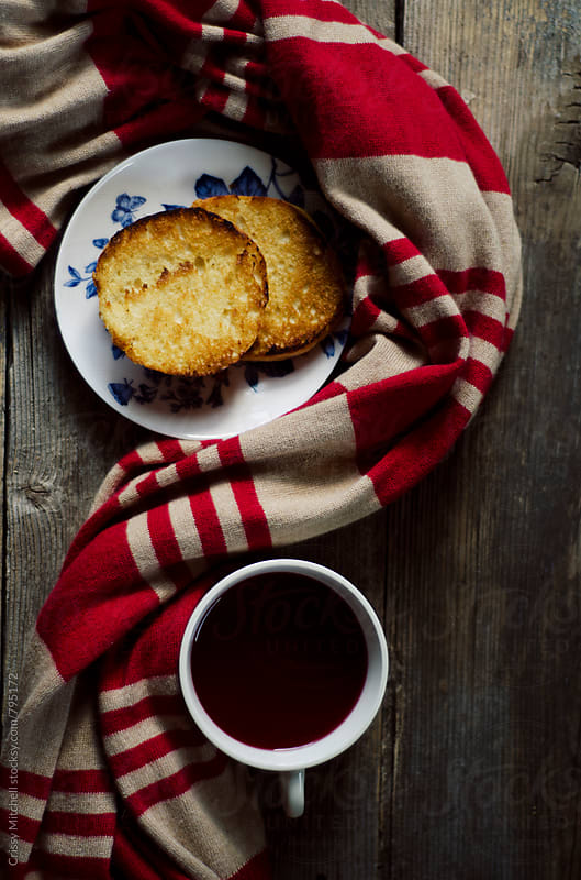 tea and biscuits by Crissy Mitchell for Stocksy United