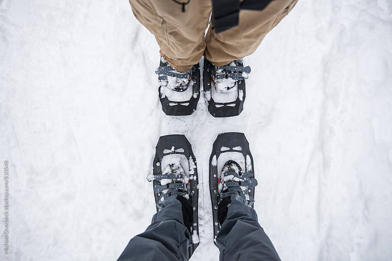 Snowshoeing by Michael Overbeck for Stocksy United