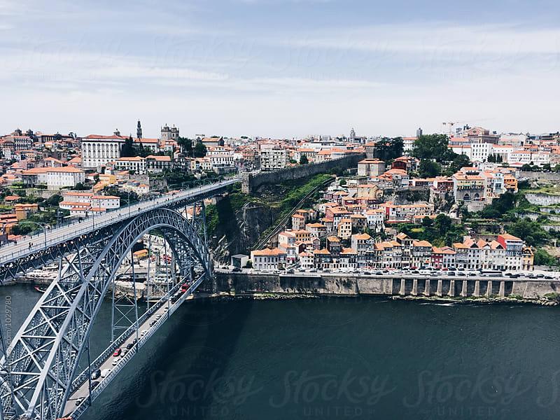 Luiz I bridge in Porto, Portugal  by Luca Pierro for Stocksy United
