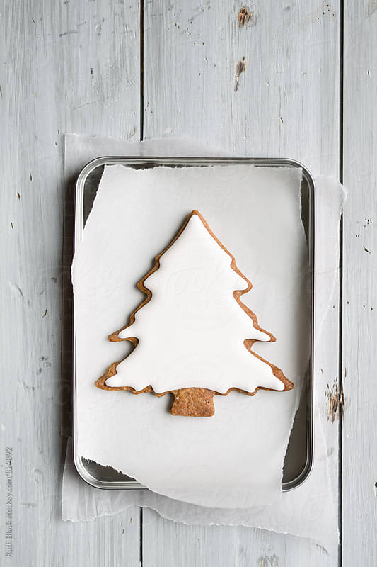 Christmas tree cookie by Ruth Black for Stocksy United