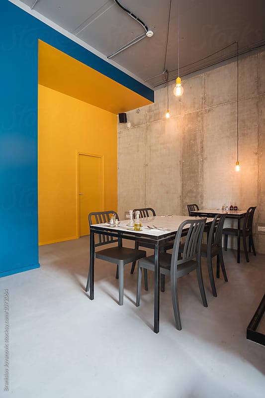 Interior of a Restaurant by Branislav Jovanovic for Stocksy United