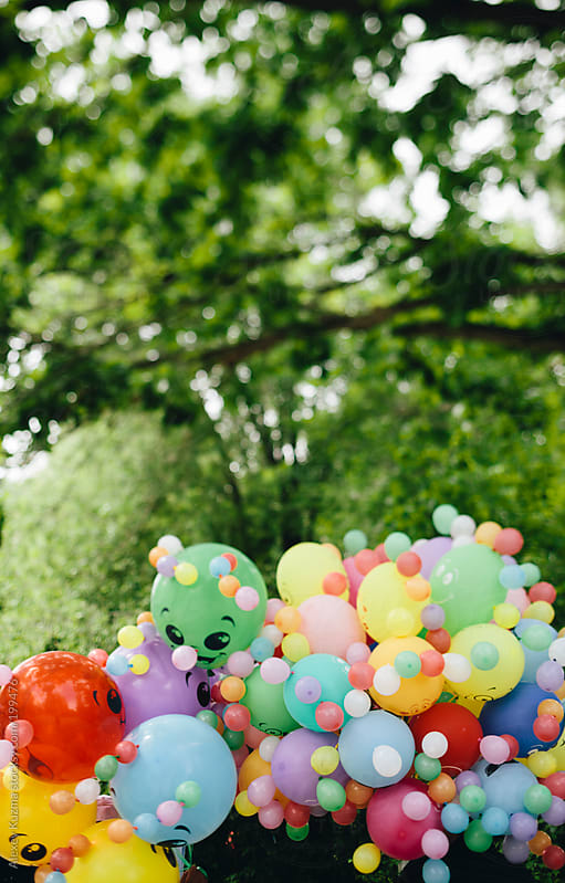 color happy balloons by Alexey Kuzma for Stocksy United