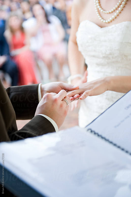 Wedding Ceremony: Exchange of Rings by Brian McEntire for Stocksy United
