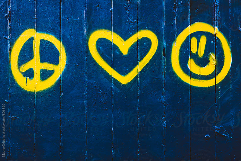 Symbol painted on wall by Mauro Grigollo for Stocksy United