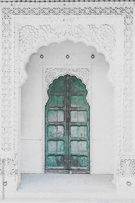 Wooden Door in a fort in India by Luke Gram for Stocksy United