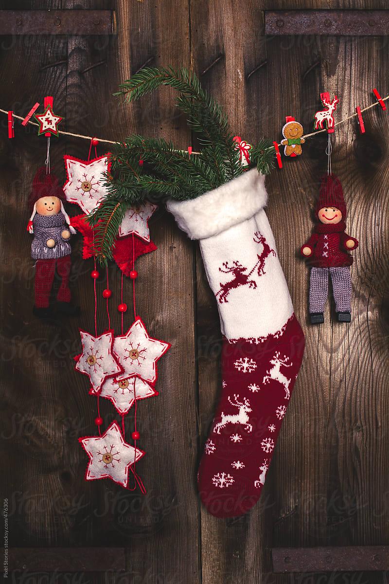 Hanging Christmas Stockings Stocksy United