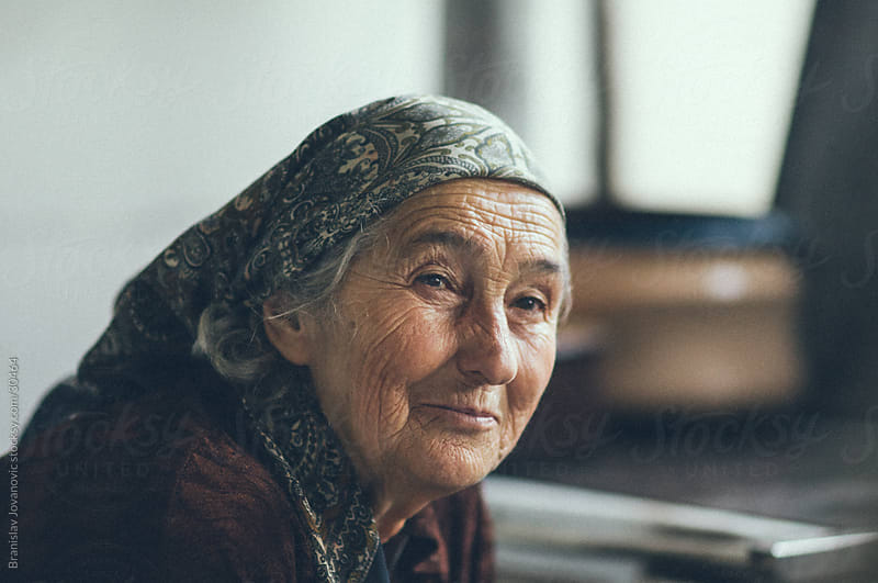 Portrait of a senior woman by Branislav Jovanović for Stocksy United