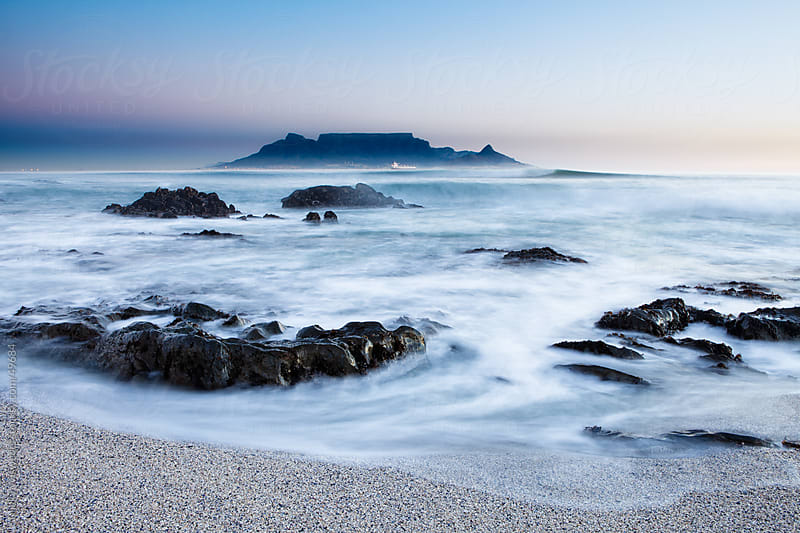 Long exposure Table Mountain in Cape Town, South Africa by Micky Wiswedel for Stocksy United