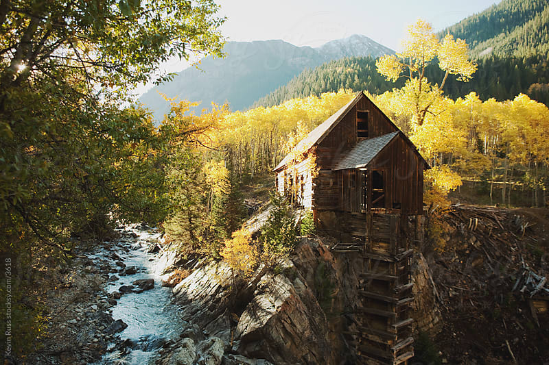 Old Abandoned Mountain Mill by Kevin Russ for Stocksy United