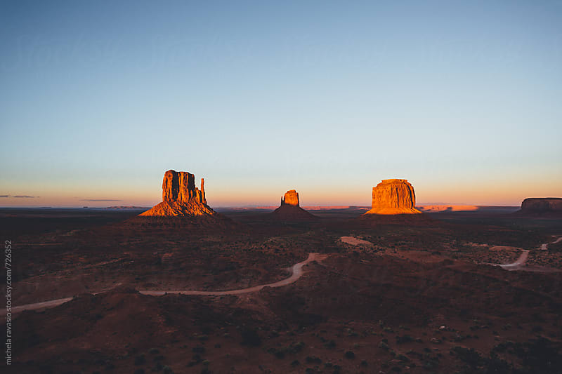 Monument Valley at sunset by michela ravasio for Stocksy United