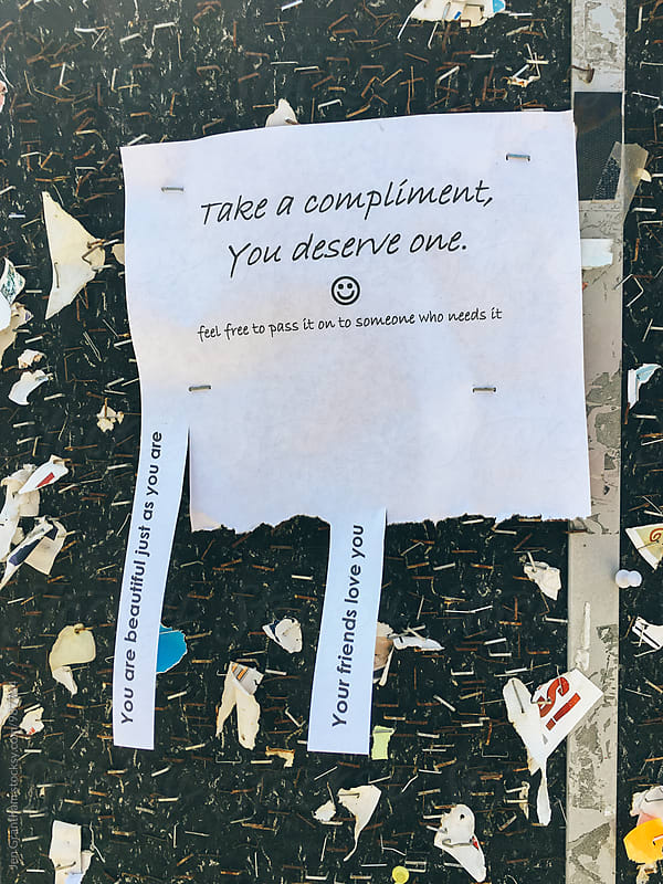 Take a compliment by Jen Grantham for Stocksy United