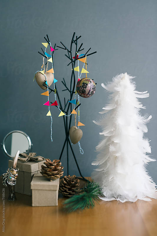 2 understated Christmas tree by Alita Ong for Stocksy United