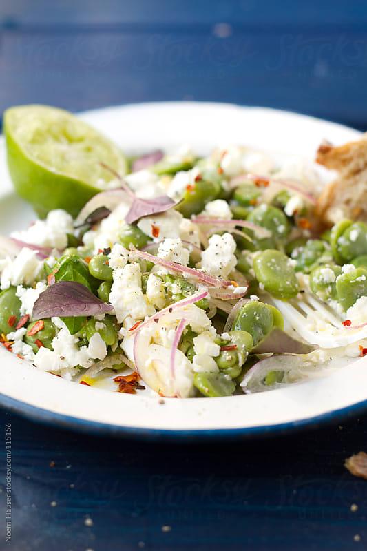 Fava bean - feta salad by Noemi Hauser for Stocksy United