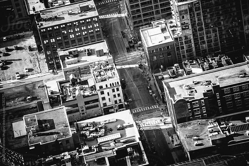 Aerial view of a city by Good Vibrations Images for Stocksy United