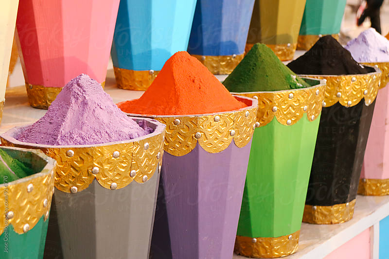 colourful moroccan spices. by Jose Coello for Stocksy United