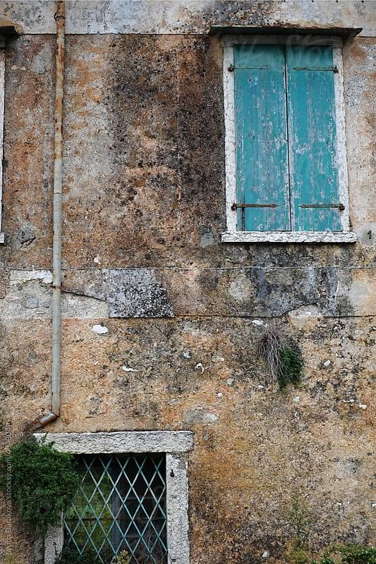 Windows and old wall in Italy by Lyuba Burakova for Stocksy United
