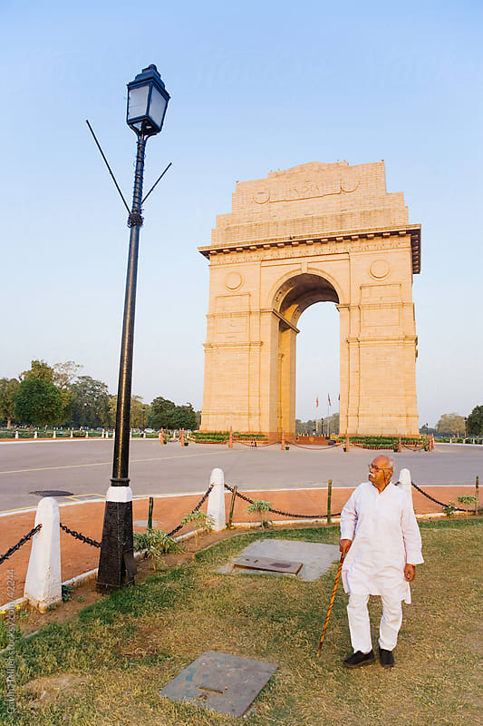India, Delhi, New Delhi, India Gate, by Gavin Hellier for Stocksy United