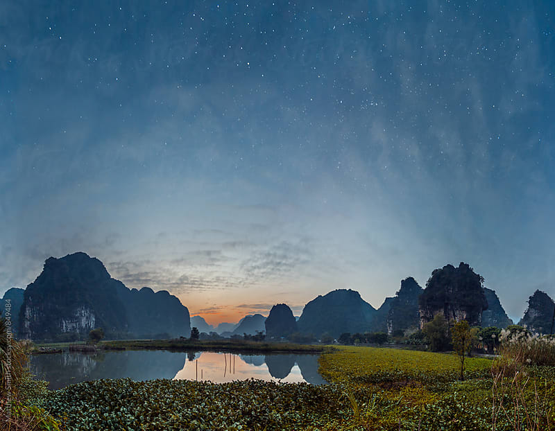 Fishing pond outside of Ninh Binh, Vietnam by Matthew Smith for Stocksy United