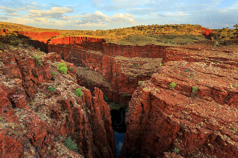 Hancock Gorge from Oxer Lookout. Karijini National Park. Western Australia. by John White for Stocksy United