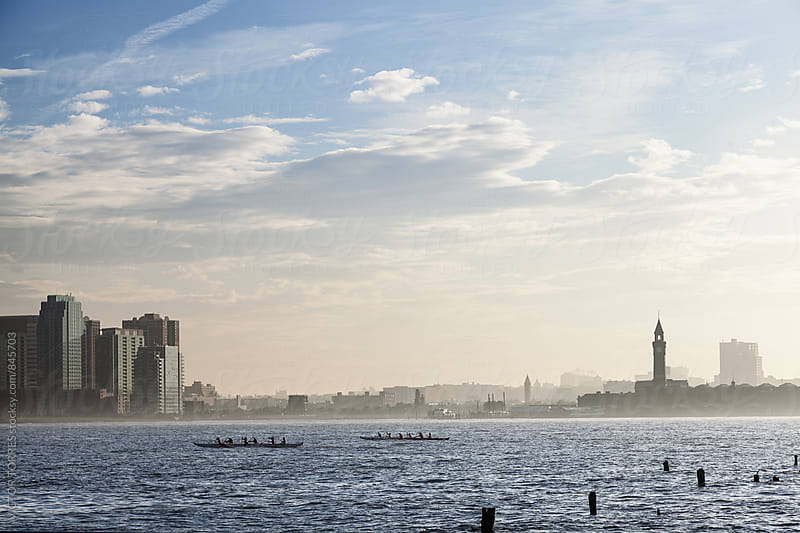 Hudson River and New Jersey from Chelsea Piers, New York by Victor Torres for Stocksy United