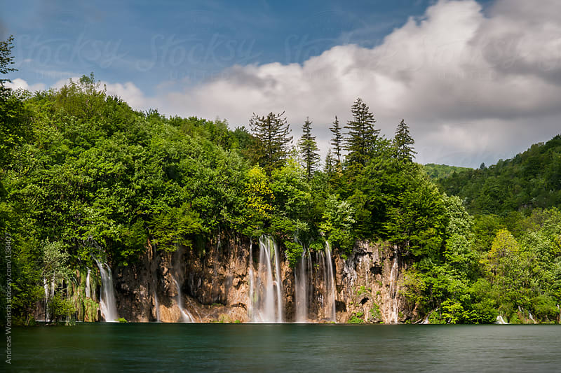 Plitvice Lakes Waterfalls by Andreas Wonisch for Stocksy United