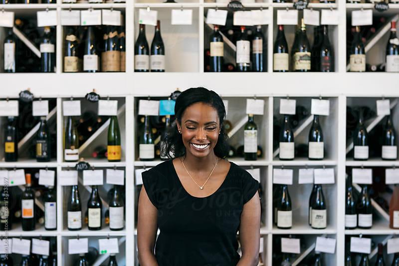 stock photo: wine customer