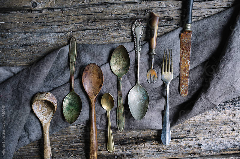 Vintage cutlery by Alberto Bogo for Stocksy United