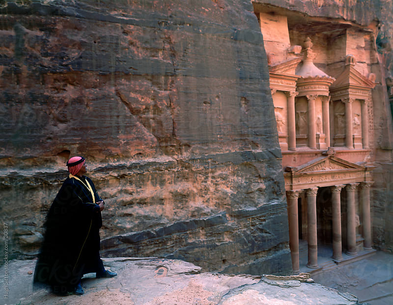 The Treasury at Petra by Hugh Sitton for Stocksy United