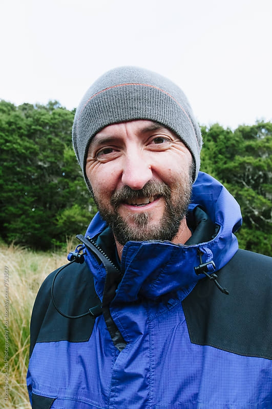 Portrait of a male trekker, Kahurangi National Park, New Zealand. by Thomas Pickard for Stocksy United