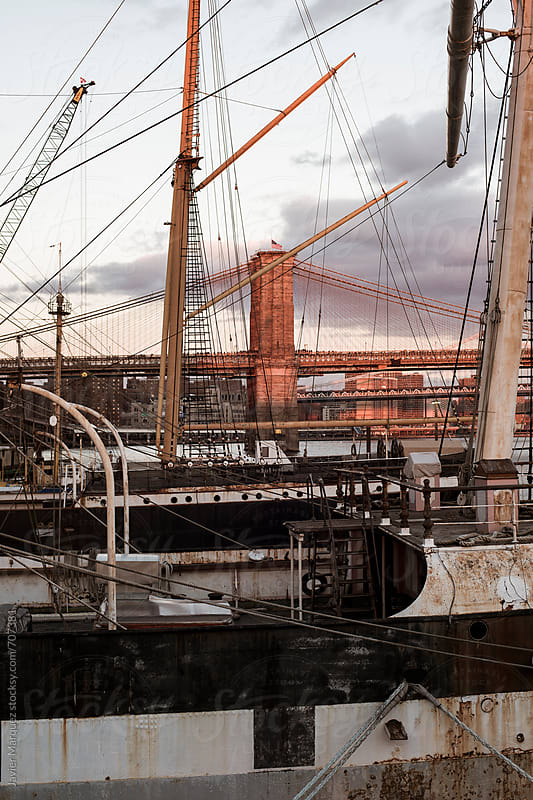 old ship in the port  by Javier Marquez for Stocksy United