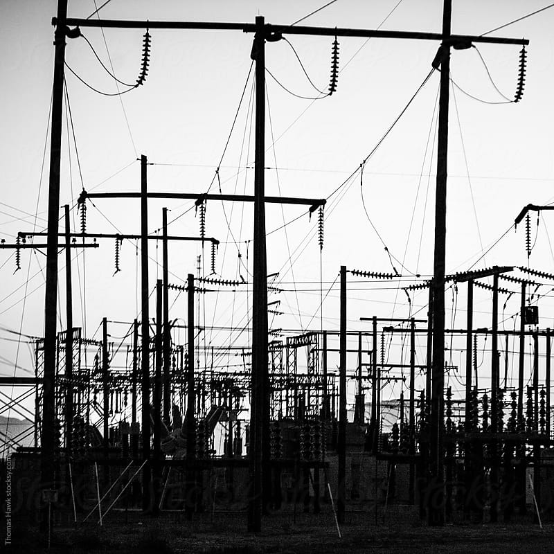 power station and lines by Thomas Hawk for Stocksy United
