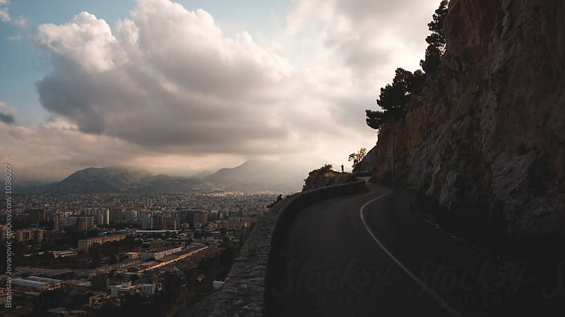 View of Palermo city from Mount Pellegrino by Brkati Krokodil for Stocksy United