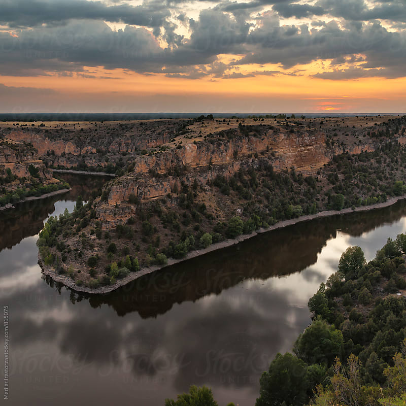 Beautiful canyon at sunset by Marilar Irastorza for Stocksy United