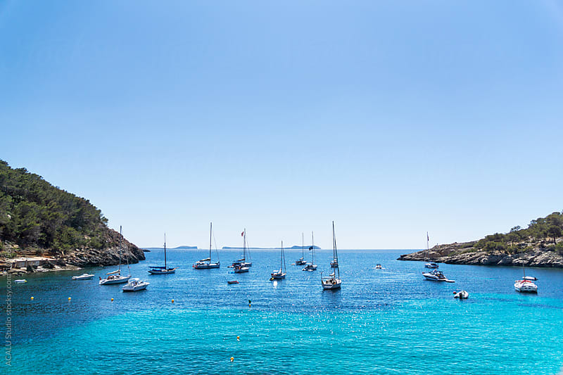 Paradise cove in mediterranean sea by ACALU Studio for Stocksy United